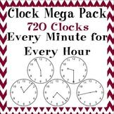 Clock Clipart Mega Pack 720 Images for 2.MD.C.7 & 3.MD.A.1