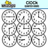 Clock Clipart - Quarter Hour Interval