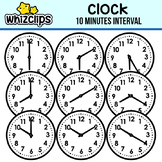 Clock Clipart -Ten minute Interval