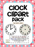 Clock Clipart  -- to the :00, :15, :30, and :45