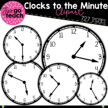 Clock Clipart {to the Minute)