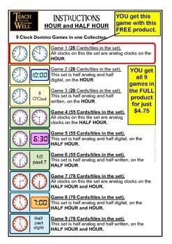 Clock DOMINOES - FREE!