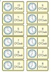 Clock DOMINOES - HOUR and HALF HOUR - 9 Games - 48 pages