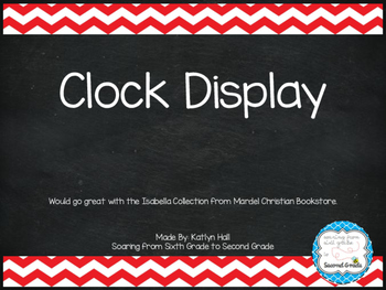 Clock Display (Corresponds with Mardel's Isabella Collection)