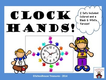 Clock Display:  Multi-Colored Hands!