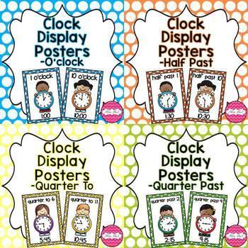 Clock Display Posters Bundle
