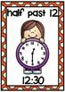 Clock Display Posters- Half Past Times