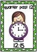 Clock Display Posters- Quarter Past Times