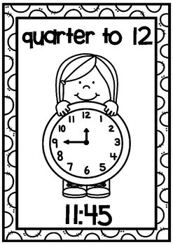Clock Display Posters- Quarter To Times