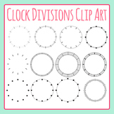 Clock Divisions Clip Art Set for Commercial Use