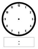 Clock Face - Digital and Analog - Blank