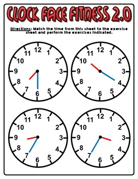 Clock Face Fitness 2.0
