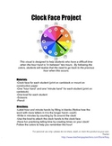 Clock Face Project- Learn to Tell Time
