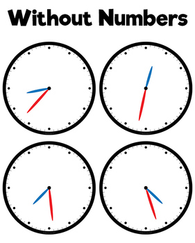 Clock Faces Clipart - Every Minute!