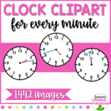 Clock Faces for Every Minute Clip Art