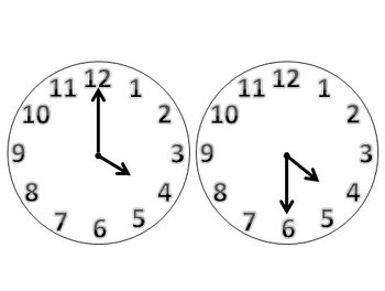 Clock Faces to the Hour and Half-Hour