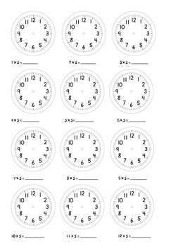 Clock Facts Flash Cards