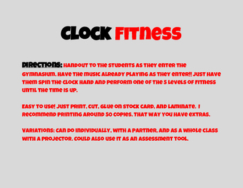 Clock Fitness
