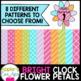 Clock - Flower Time Petals