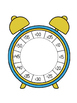 Clock Foldable. Telling Time to 5 Minutes. Math Interactiv