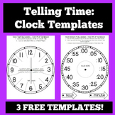 Telling Time:  Clock Templates and Foldables