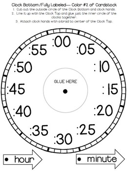Telling Time: Clock Templates and Foldables by The Owl Teach | TpT