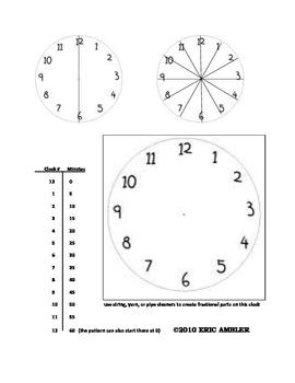 Clock Fractions Practice/Resource