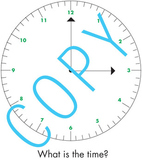 Clock Game - telling time (word problems) Elementary math
