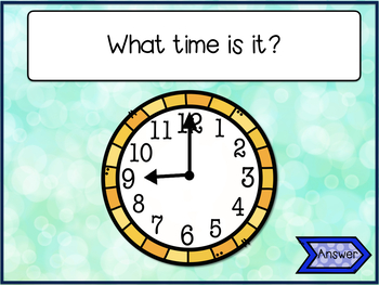 Clock Game~ Interactive PowerPoint Gameshow