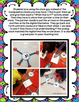 Clock Guy Freebie: Craft and Activity for Teaching Time