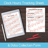 Clock Hours Tracking and Data Collection Sheets