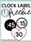 Clock Label Freebie