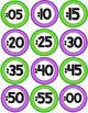 Classroom Decor Clock Labels - Purple & Green FREEBIE