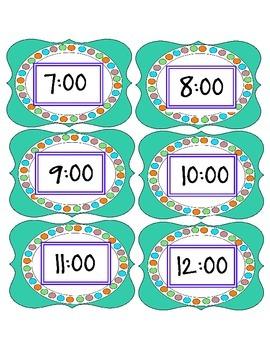 Clock Label Set