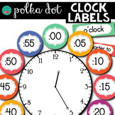 Clock Labels Polka Dots
