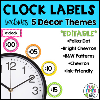 Clock Labels {4 color themes}