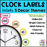 Clock Labels {5 color themes}