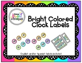 Colorful Clock Labels - {BILINGUAL} Labels, included!