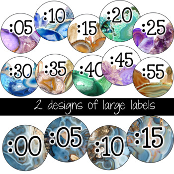 Clock Labels- Agate Classroom Decor