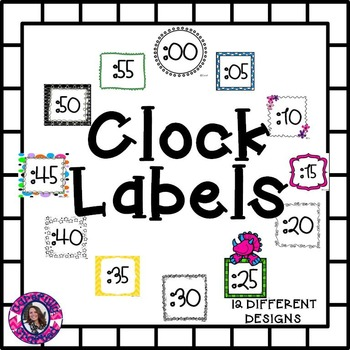Clock Labels {12 Different Designs}