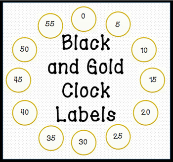 FREEBIE! Clock Labels || Black and Gold