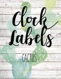 Clock Labels ~ Cactus