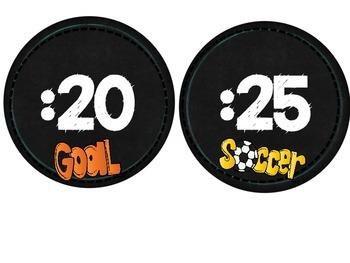 Clock Labels-Chalkboard