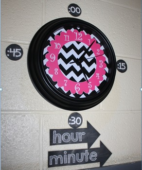 Clock Labels {Chalkboard Theme}