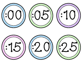 Clock Labels-Chevron