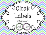 Clock Labels-Chevron