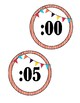 Clock Labels-Circus