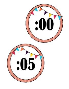 Clock Labels-Circus