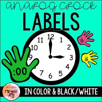 Clock Hand Labels:  Rainbow Minute Hands