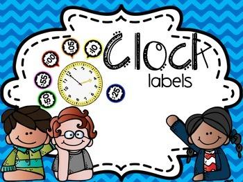 Clock Labels ~ Colorful labels